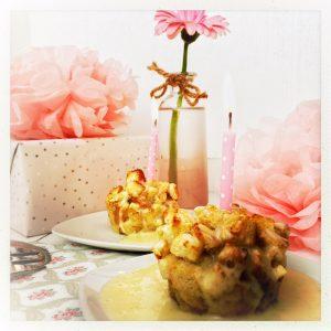 Aepfel, Toast, foodwerk.ch, Geburtstag, Muffin, Vanille, Sauce