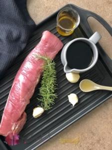 schweinefilet vom grill mit balsamico rosmarin marinade