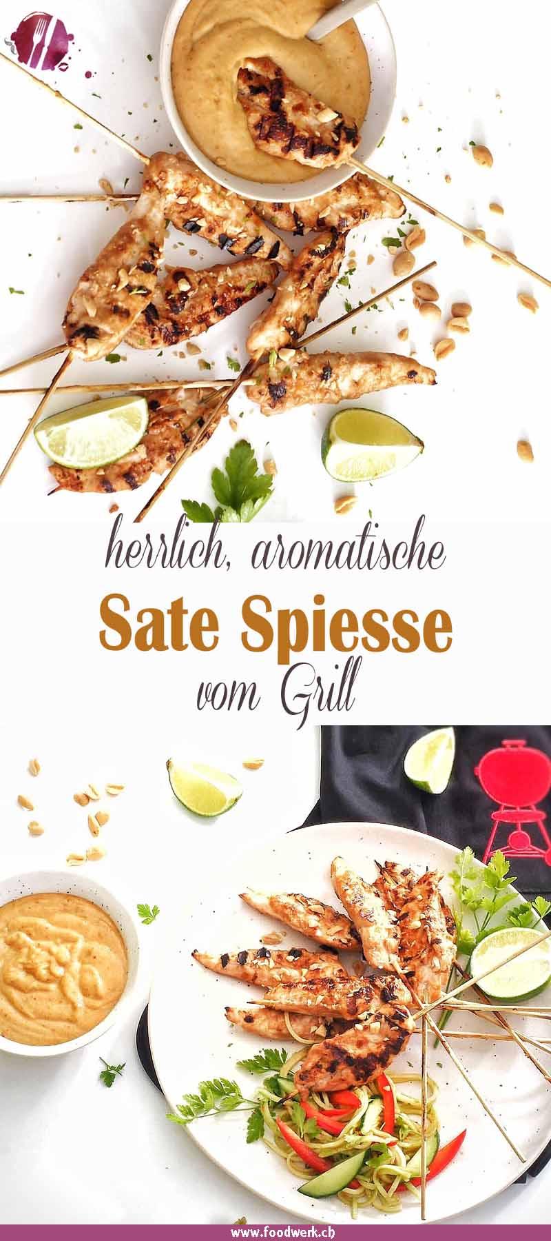 Sate Spiesse mit Hähnchen vom Weber Grill