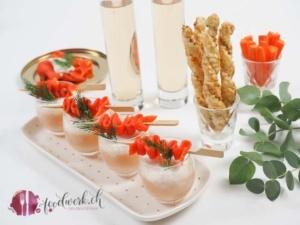 Mövenpick Coho Wildlachs als Suppe zubereitet